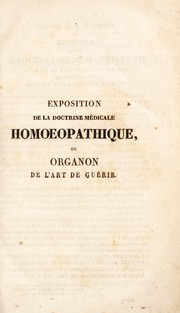 Cover of: Exposition de la doctrine m©♭dicale homoeopathique
