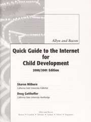 Cover of: Allyn and Bacon quick guide to the Internet for child development