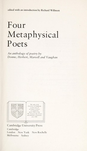 introduction to metaphysical poetry