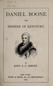Cover of: Daniel Boone