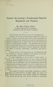 Cover of: Correct accounting