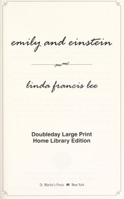 Cover of: Emily and Einstein | Linda Francis Lee