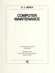 Cover of: Computer maintenance