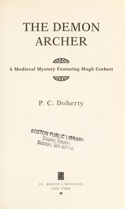 Cover of: The demon archer | P. C. Doherty