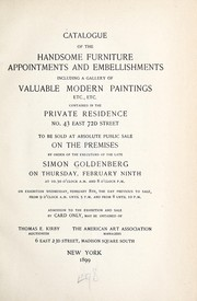 Cover of: Catalogue of the handsome furniture appointments and embellishments including a gallery of valuable modern paintings, etc | American Art Association