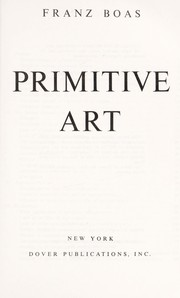 Cover of: Primitive art