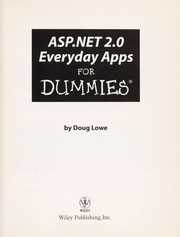 Cover of: ASP.NET 2.0 everyday apps for dummies