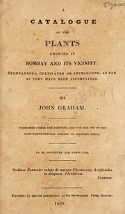 Cover of: A catalogue of the plants growing in Bombay and its vicinty