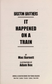 Cover of: It happened on a train