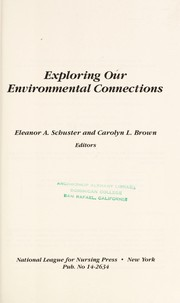 Cover of: Exploring our environmental connections |