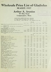 Cover of: Wholesale price list of gladiolus | Arthur A. Arenius (Nursery)