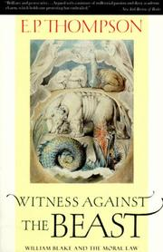 Cover of: Witness against the beast: William Blake and the Moral Law
