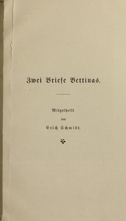 Cover of: Zwei Briefe Bettinas