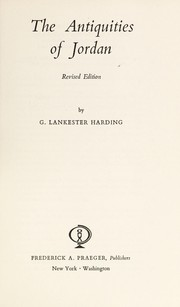 Cover of: The antiquities of Jordan by G. Lankester Harding