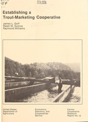 Cover of: Establishing a trout-marketing cooperative | J.L. Goff
