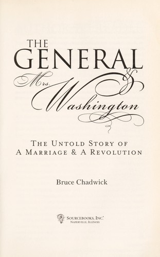 The general & Mrs. Washington by Bruce Chadwick