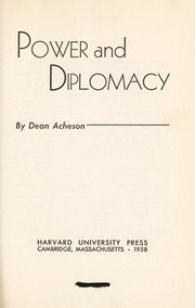 Cover of: Power and diplomacy. --