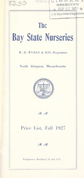 Cover of: Price list, fall 1927
