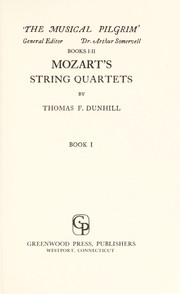 Cover of: Mozart's string quartets