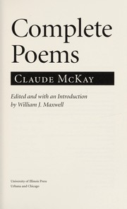 Cover of: Complete poems