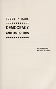 Cover of: Democracy and its critics