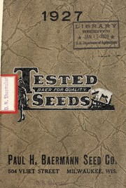 Cover of: 1927 tested seeds