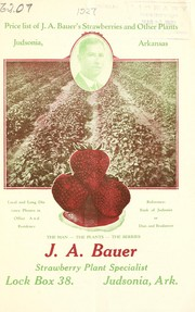 Cover of: Price list of J.A. Bauer