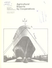Cover of: Agricultural exports by cooperatives | D.E. Hirsch
