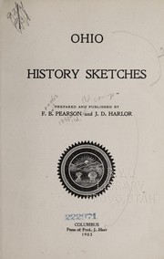 Cover of: Ohio history sketches | Francis Bail Pearson