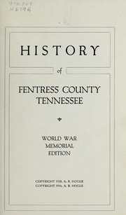Cover of: History of Fentress County, Tennessee