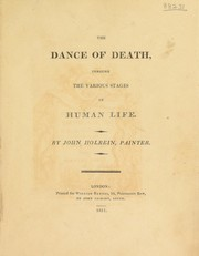 Cover of: The dance of death, through the various stages of human life