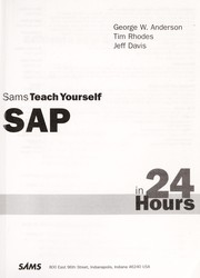 Cover of: Sams teach yourself SAP in 24 hours