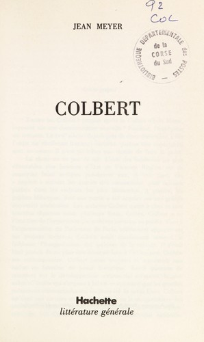 Colbert by Meyer, Jean