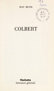 Cover of: Colbert | Meyer, Jean