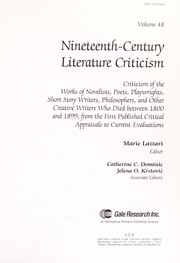 Cover of: Nineteenth Century Literary Criticism V48 Topics | Marie Lazzari