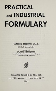 Cover of: Practical and industrial formulary