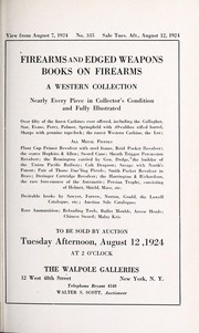 Cover of: Firearms and edged weapons, books on firearms