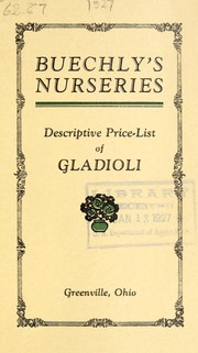 Cover of: Descriptive price list of gladioli | Buechly