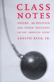 Cover of: Class notes | Adolph L. Reed