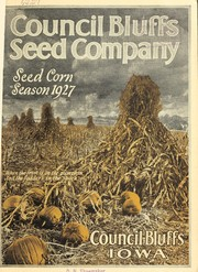Cover of: Council Bluffs Seed Company, seed corn growers, exclusively wholesale [catalog]