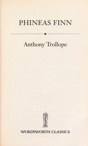 Cover of: Phineas Finn | Anthony Trollope