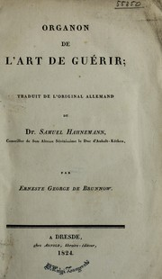 Cover of: Organon de l'art de gu©♭rir