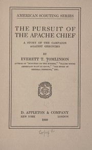 Cover of: The pursuit of the Apache chief | Everett T. Tomlinson