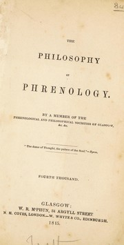 Cover of: The philosophy of phrenology | Robert Hunter