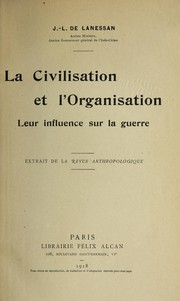 Cover of: La civilisation et l'organisation
