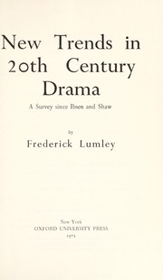 Cover of: Trends in 20th century drama
