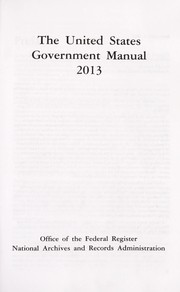 Cover of: United states government manual 2013 |