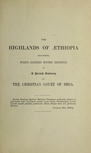 Cover of: The highlands of Aethiopia