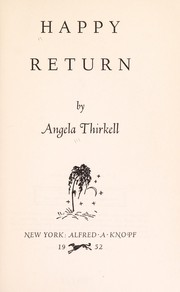 Cover of: Happy Return