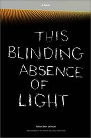 Cover of: This Blinding Absence of Light